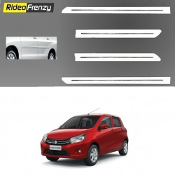 Maruti Celerio white Chrome Side beading