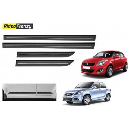 Buy Maruti Swift & Dzire Black Chrome Side beading at low prices-RideoFrenzy