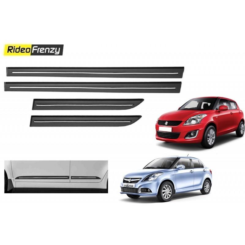 Buy Maruti Swift & Dzire Black Chrome Side beading at low prices-RideoFrenzy
