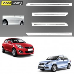 Buy Maruti Swift Dzire White Chrome Side beading online at low prices-RideoFrenzy