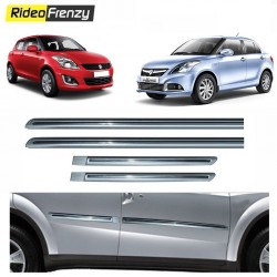 Buy Maruti Swift & Dzire Silver Chrome Side beading online at low prices-RideoFrenzy