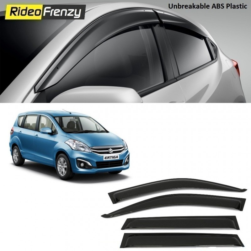 Buy Unbreakable Maruti Ertiga Door Visors in ABS Plastic Online at low prices-Rideofrenzy