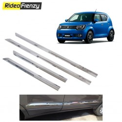 Buy Stainless Steel Maruti Ignis Chrome Side Beading online at low prices-RideoFrenzy
