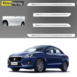 Buy New Dzire 2017 White Chromed Side Beading online at low prices-RideoFrenzy