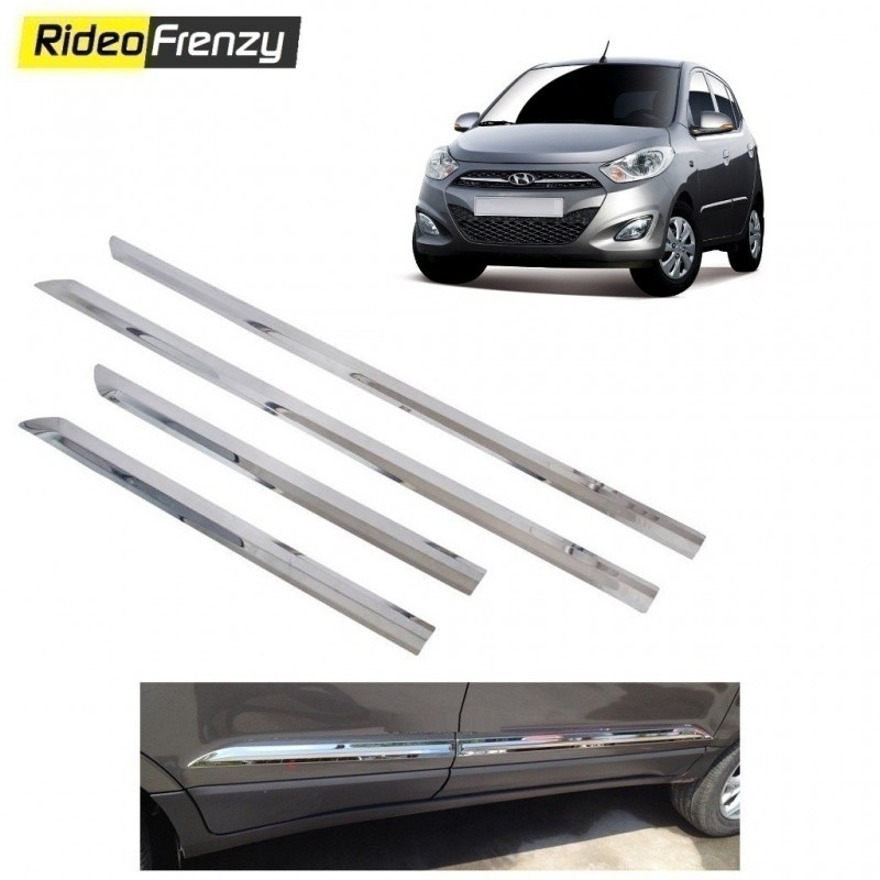 Buy Stainless Steel Hyundai i10 Chrome Side Beading at low prices-RideoFrenzy