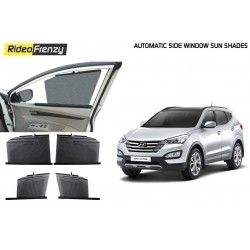 Buy Hyundai SantaFe Automatic Side Window Sun Shades online at low prices-RideoFrenzy