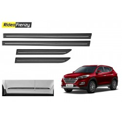 Buy Hyundai Tucson Black Chromed Side Beading online at low prices-RideoFrenzy