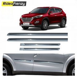 Buy Hyundai Tucson Silver Chromed Side Beading online at low prices-RideoFrenzy