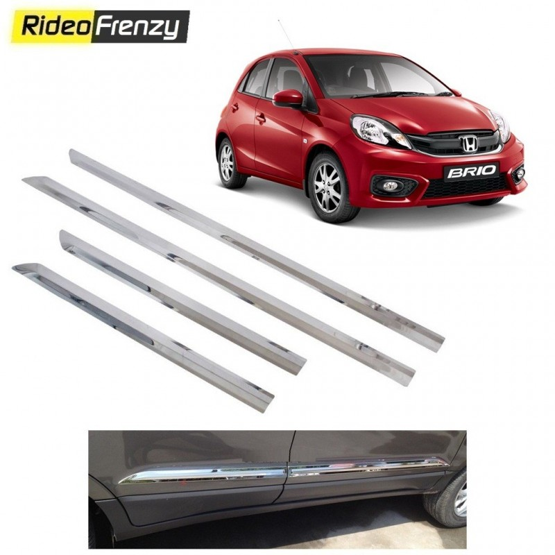 Buy Stainless Steel Honda Brio Chrome Side Beading online at low prices-RideoFrenzy