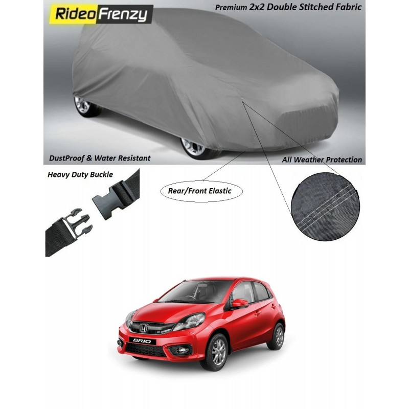 Buy Heavy Duty Honda Brio Car Body Cover online at low prices-RideoFrenzy