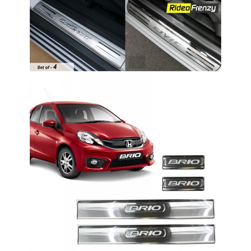 Buy Honda Brio Door Stainless Steel Sill Plates online at low prices-RideoFrenzy