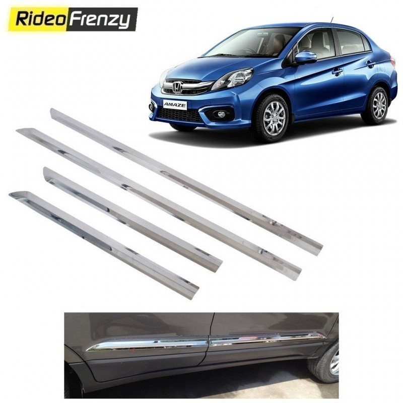 Buy Stainless Steel Honda Amaze Chrome Side Beading online at low prices-RideoFrenzy