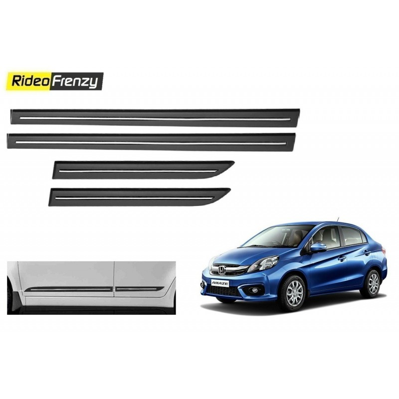 Buy Honda Amaze Black Chromed Side Beading online at low prices-RideoFrenzy