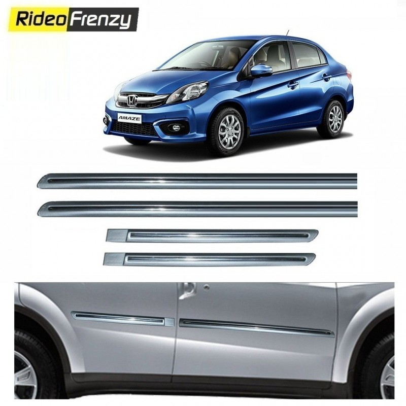 Buy Honda Amaze Silver Chromed Side Beading online at low prices-RideoFrenzy