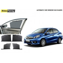 Buy Honda Amaze Automatic Side Window Sun Shades online at low prices-RideoFrenzy