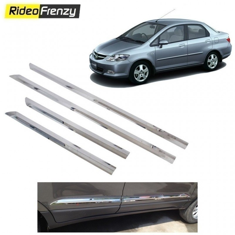 Buy Stainless Steel Honda City Zx Chrome Side Beading online at low prices-RideoFrenzy