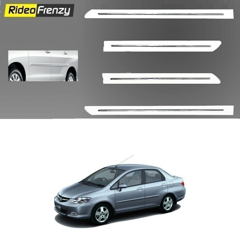 Buy Honda City Zx White Chromed Side Beading online at low prices-RideoFrenzy