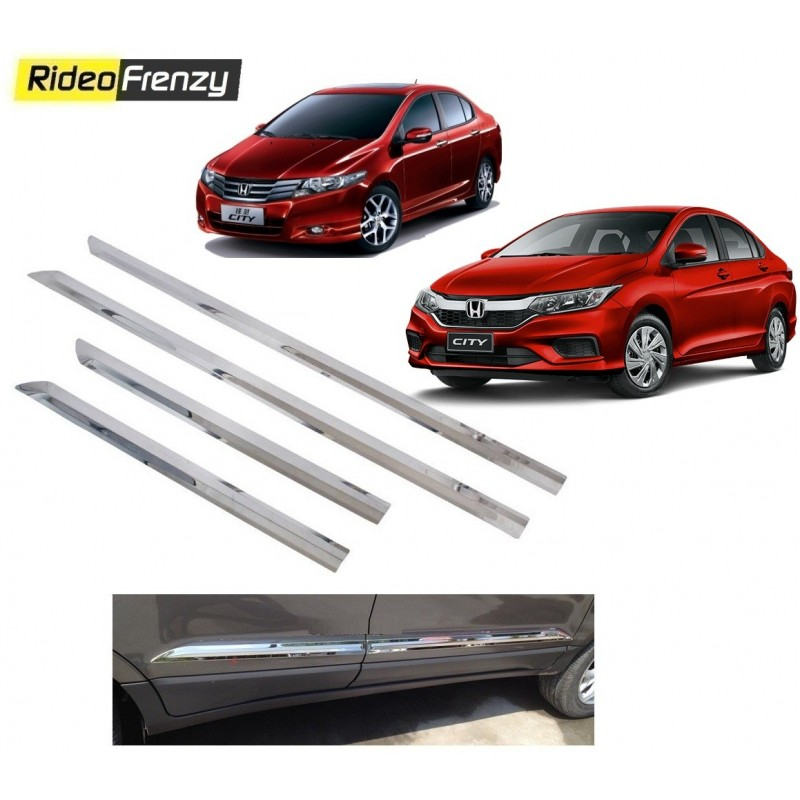 Buy Stainless Steel Honda City Ivtec/Idtec Chrome Side Beading online at low prices-RideoFrenzy