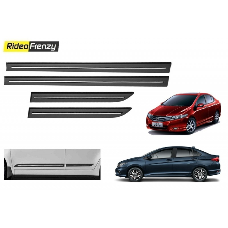 Buy Honda City Ivtec/Idtec Black Chromed Side Beading online at low prices-Rideofrenzy