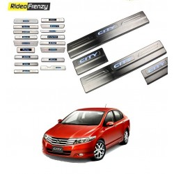 Buy Honda City Ivtec Door Stainless Steel Sill Plate with Blue LED online at low prices-Rideofrenzy