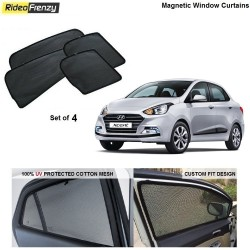 Buy Hyundai Xcent Magnetic Car Window Sunshades at low prices-RideoFrenzy