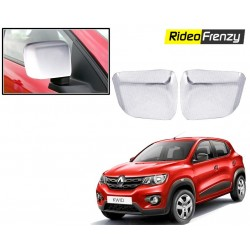Buy Renault Kwid Chrome Side Mirror Covers online at low prices-RideoFrenzy