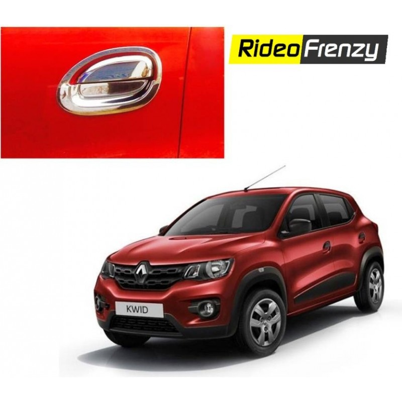 Buy Renault Kwid Full Chrome Handle Covers online at low prices-RideoFrenzy