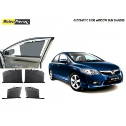 Buy Honda Civic Automatic Side Window Sun Shades online at low prices-Rideofrenzy