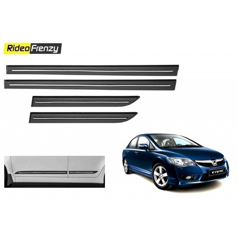 Buy Honda Civic Black Chromed Side Beading online at low prices-RideoFrenzy