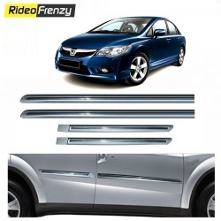Buy Honda Civic Silver Chromed Side Beading online at low prices-RideoFrenzy