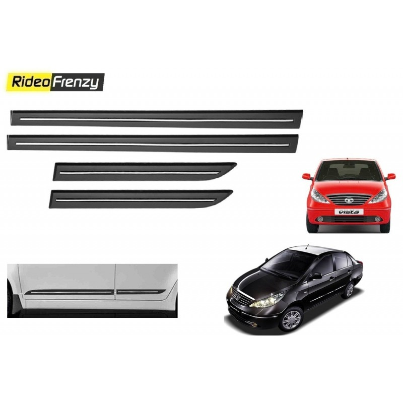 Buy Tata Indica Vista/Manza Black Chromed Side Beading online at low prices-RideoFrenzy