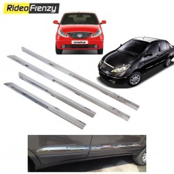 Buy Tata Indica Vista/Manza Stainless Steel Side Beading online at low prices-RideoFrenzy