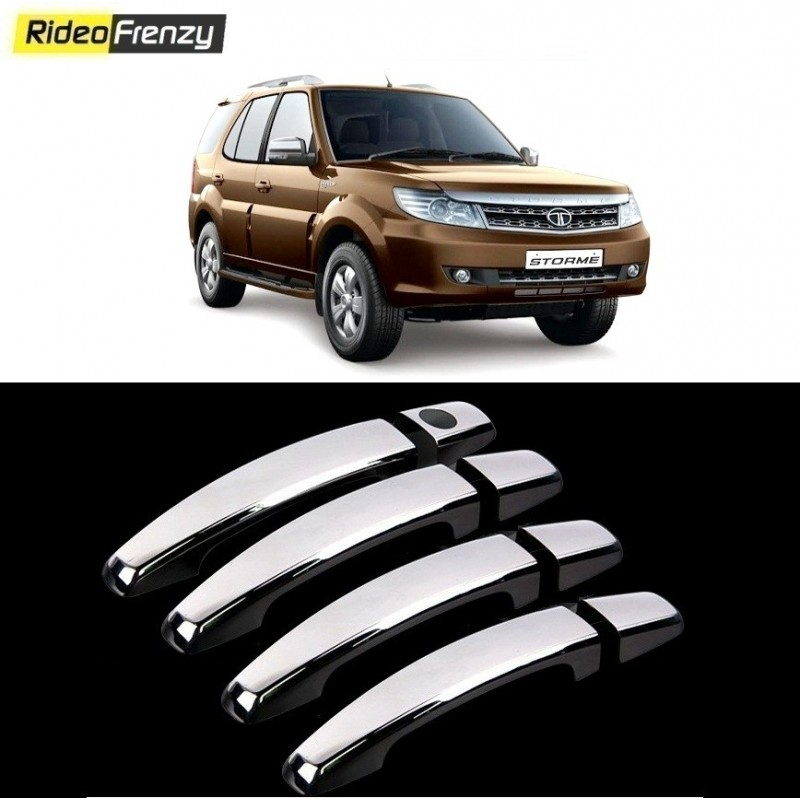 Buy Tata Safari Storme Door Chrome Handle Cover online at low prices-RideoFrenzy