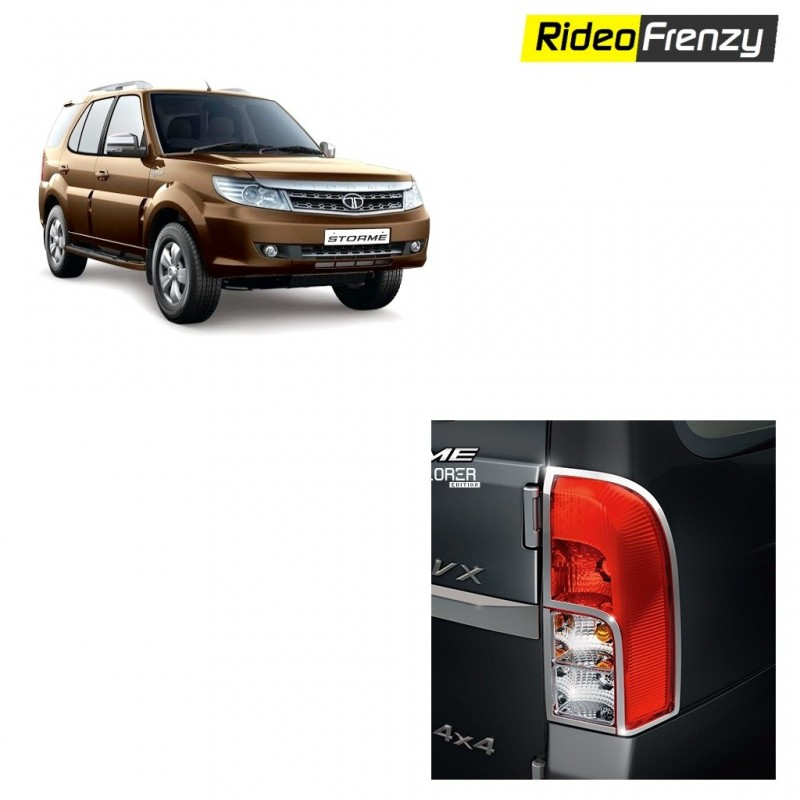 Buy Premium Tata Safari Storme Chrome Tail Light Covers online at low prices-RideoFrenzy