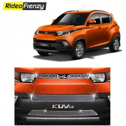 Buy Mahindra KUV100 Chrome Grill Covers(Upper+middle+lower) online at low prices-RideoFrenzy