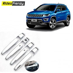 Buy Jeep Compass Chrome Handle Covers online at low prices-RideoFrenzy