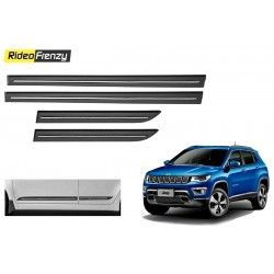 Buy Jeep Compass Black Chromed Side beading at low prices-RideoFrenzy