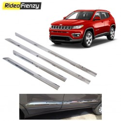 Buy Stainless Steel Jeep Compass Side beading at low prices-RideoFrenzy