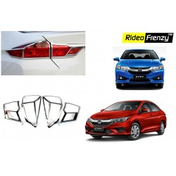 Buy New Honda City Chrome Tail Light Covers online at low prices-RideoFrenzy