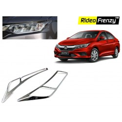 Buy New Honda City 2017 Chrome HeadLight Covers online at low prices-RideoFrenzy
