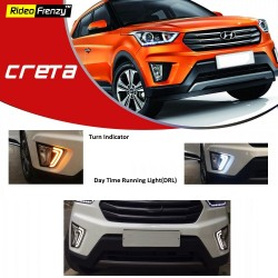 Buy Hyundai Creta LED DRL Day Time Running Lights online at low prices-Rideofrenzy