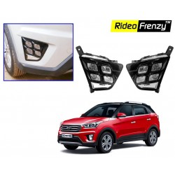 Buy Hyundai Creta Double LED DRL Day Time Running Lights online at low prices-Rideofrenzy