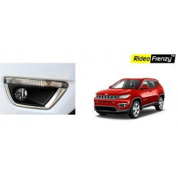 Buy Jeep Compass Chrome Fog Lamp Garnish online at low prices-RideoFrenzy