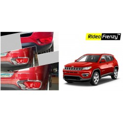 Buy Jeep Compass Chrome Rear Reflector Lamp Garnish online at low prices-RideoFrenzy