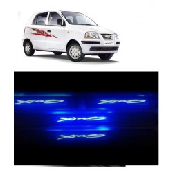 Buy Hyundai Santro Stainless Steel Sill Plate with Blue LED at low prices-RideoFrenzy