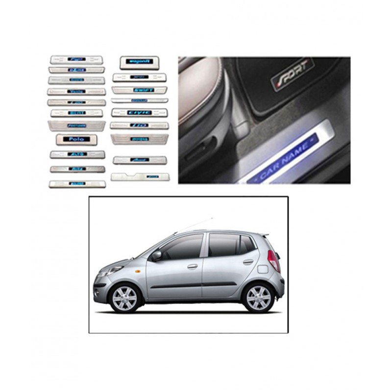 Buy Hyundai i10 Stainless Steel Door Scuff Sill Plates at low prices-RideoFrenzy