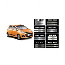 Buy Hyundai Grand i10 Stainless Steel Door Scuff Sill Plates online at low prices-RideoFrenzy