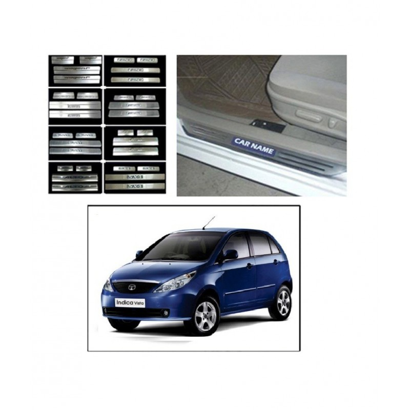 Buy Tata Indica Vista Door Stainless Steel Scuff Plate online at low prices-RideoFrenzy