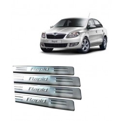 Stainless Steel Door Sill Plate for Skoda Rapid