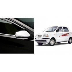Buy Triple layer Hyundai Santro Chrome Side Mirror covers at low prices-RideoFrenzy